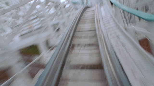 dx - roller coaster mov p.o.v. - straight fwd - exhilaration stock videos & royalty-free footage