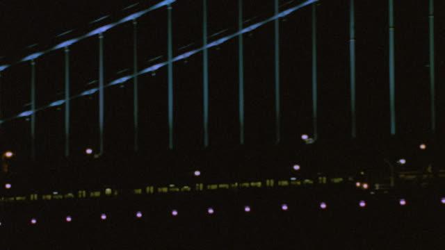 nx - philadelphia - bridges - trains passenger train - ベンフランクリン橋点の映像素材/bロール