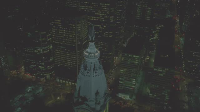 nx - aerials - philadelphia - william penn stock videos & royalty-free footage