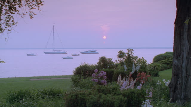 sunset - ocean, small boat, yacht, sailboats - 1995 stock videos & royalty-free footage