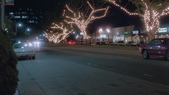 nx - los angeles, street, christmas - 1995 stock videos & royalty-free footage