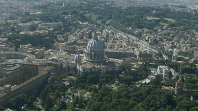 dx - aerials - rome - italy - state of the vatican city stock videos & royalty-free footage