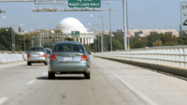 dx - driving p.o.v. - washington d.c. - jefferson memorial stock videos & royalty-free footage