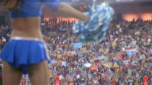 nx - sports football - cheerleader stock videos & royalty-free footage