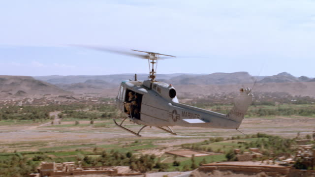 air to air-milit helicopters-marines-middle east - 1999 stock videos & royalty-free footage