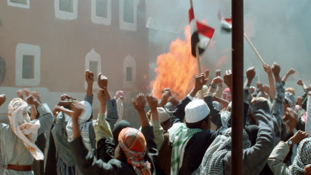 arabs-middle east-demonstration-mobs/riot - 1999 stock videos & royalty-free footage