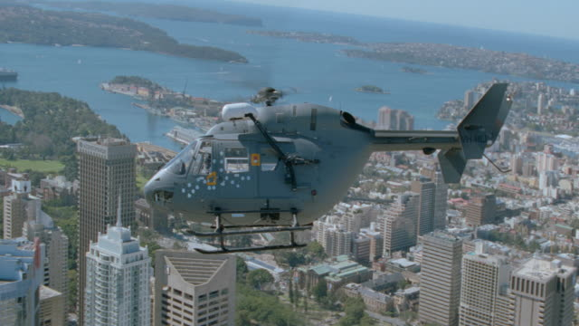dx - aerials - air to air - helicopters - australia / sydney - 1999 stock videos & royalty-free footage