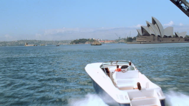 dx - aerials - aviation mov.p.o.v. - australia / sydney - bridges - sailboats - 1999 stock videos & royalty-free footage