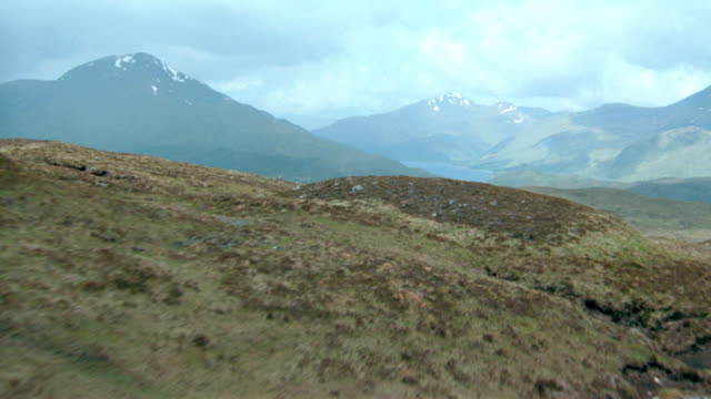 dx - aerials - scotland - scenic / mountains - scenic / lakes - hill stock videos & royalty-free footage