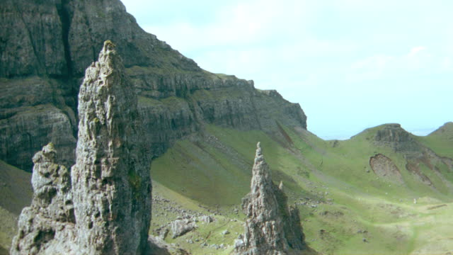 dx - aerials - scotland - scenic / mountains - obelisk stock videos & royalty-free footage