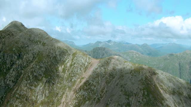 dx - aerials - scotland - scenic / mountains - lakes - extreme terrain stock videos & royalty-free footage