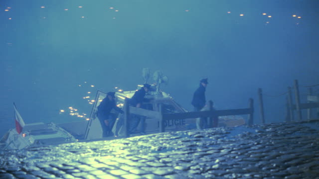 nx - prague, czechoslovakia, foreign police, patrol boat, bridge - prague stock videos & royalty-free footage