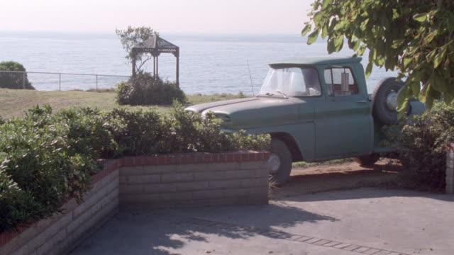 dx - california-coastline-ocean/sea-freighter-goat-horse-sheep-dogs-truck - gazebo stock videos & royalty-free footage