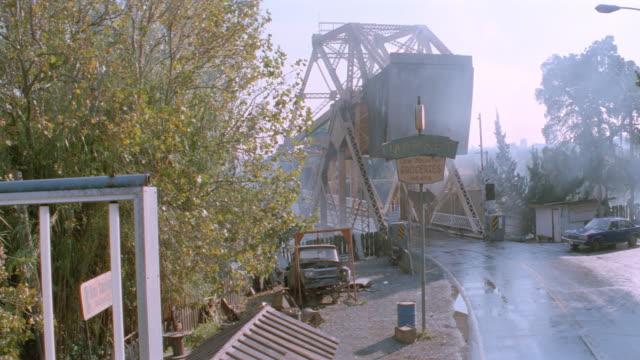 sunset - metal draw bridge - ford sedan - drawbridge stock videos & royalty-free footage