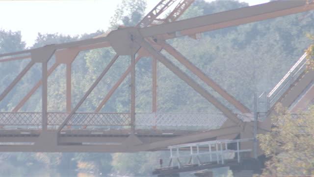 sunset - metal draw bridge - drawbridge stock videos & royalty-free footage