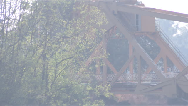 sunset - metal draw bridge + ford sedan - drawbridge stock videos & royalty-free footage