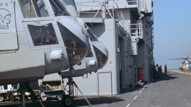 aerials/aircraft carriers/milit helicopters/ocean-sea/air to air - aircraft carrier stock videos & royalty-free footage
