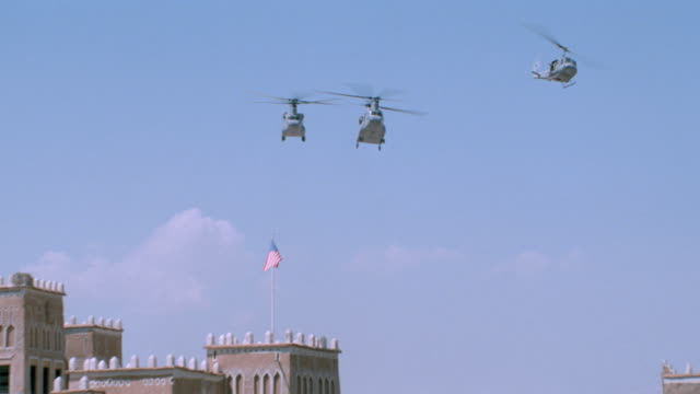 take offs/landings - middle east - milit. helicopters - yemen stock videos & royalty-free footage