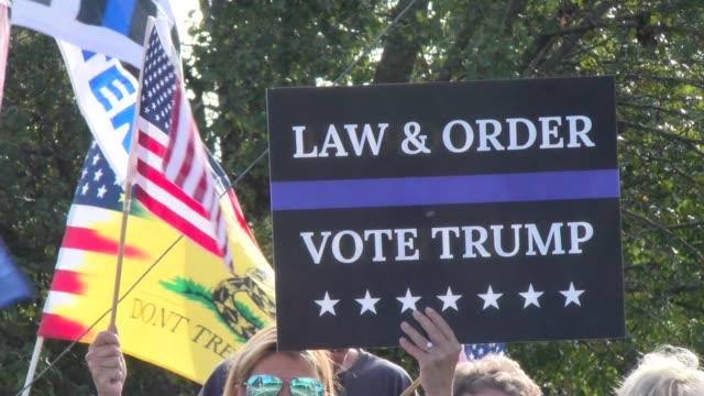 vídeos de stock e filmes b-roll de law & order, vote trump - salmini