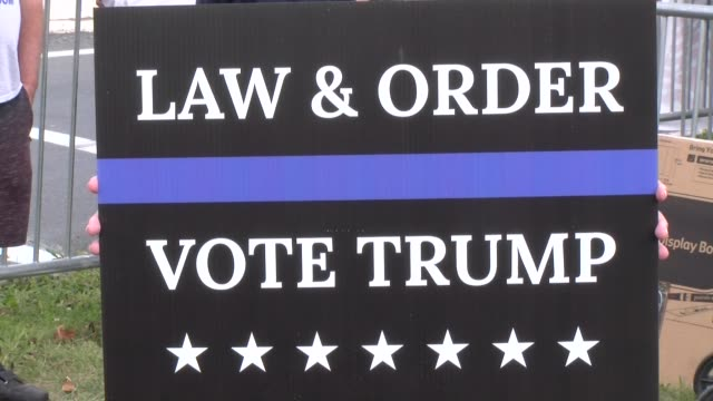 law and order vote trump - salmini stock videos & royalty-free footage