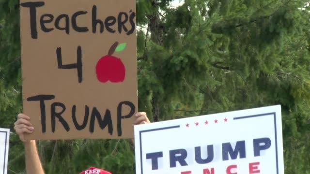 stockvideo's en b-roll-footage met teachers for trump - salmini