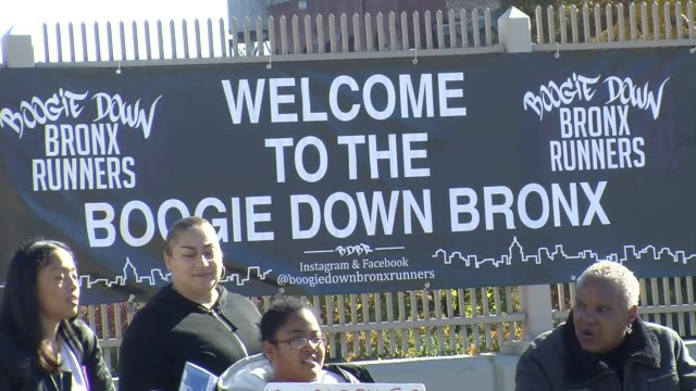 """""""welcome to the boogie down bronx"""" sign at 20 mile mark - salmini stock videos & royalty-free footage"""