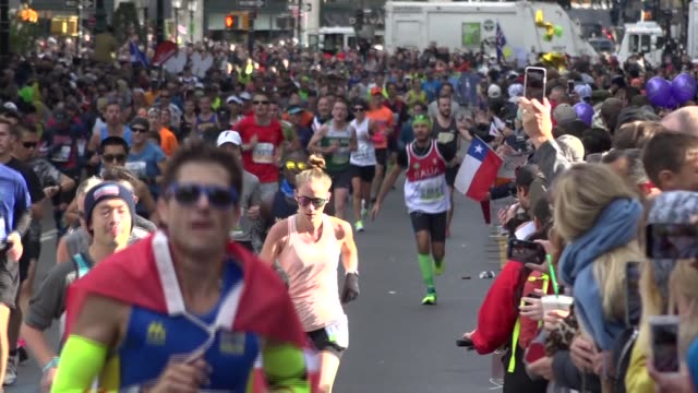 spectators cheer as runners get close to finish line - salmini stock videos & royalty-free footage