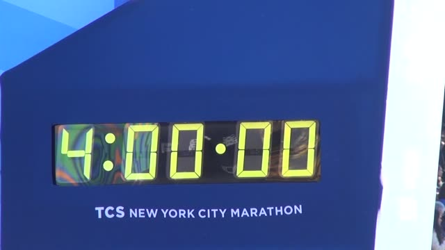 four hour mark on finish clock from ground camera - salmini stock videos & royalty-free footage