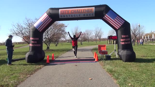 happy black man finishes race and puts arms up - salmini stock videos & royalty-free footage