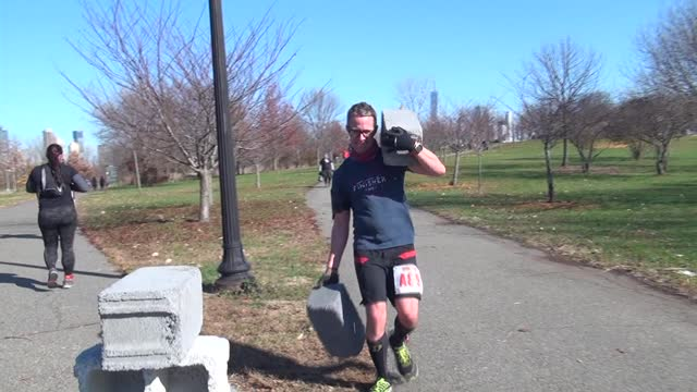 60 lbs of cinder blocks test your strength - salmini stock videos & royalty-free footage