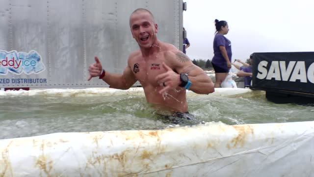 a quick ice water bath to keep you going - salmini stock videos & royalty-free footage