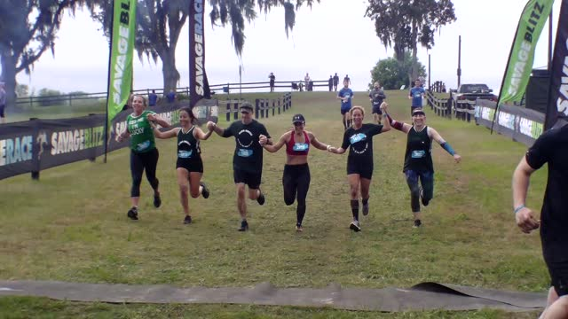 happy finishers glad to see finish line - salmini stock videos & royalty-free footage