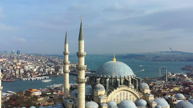 vidéos et rushes de istanbul panoramique de suleymaniye 4k - turquie