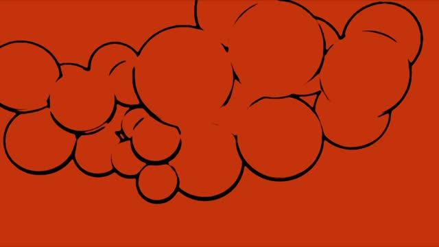 vídeos de stock, filmes e b-roll de red crazy esboçou esferas aleatórias - funky