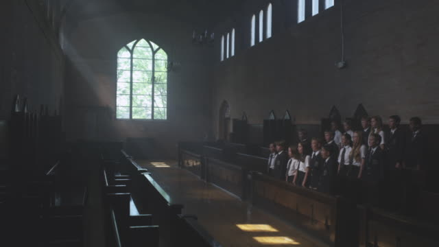 ws - choir stock videos & royalty-free footage