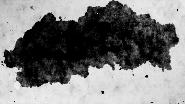 ink blot on paper-time lapse-1080hd - matte stock videos and b-roll footage