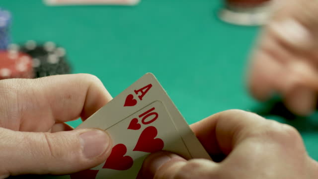 poker player-royal flush-all in-1080hd - casino cards stock videos & royalty-free footage