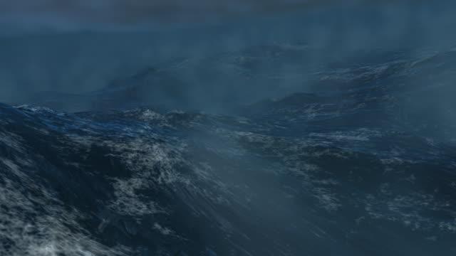 stockvideo's en b-roll-footage met storm at sea / sea storm - loop file - scheepswrak