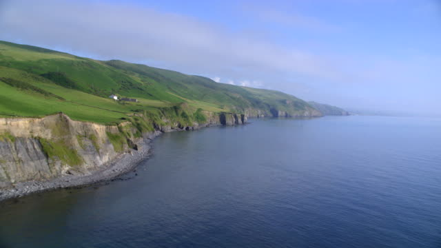 aerial cliffs, great britain coast - coastline stock videos & royalty-free footage