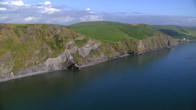 aerial cliffs, great britain coast - sea channel stock videos & royalty-free footage