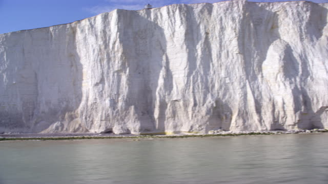 aerial white cliffs of dover - sea channel stock videos & royalty-free footage