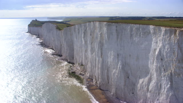 aerial white cliffs of dover - cliff stock videos & royalty-free footage