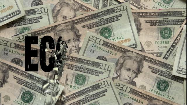 economy - twenty us dollar note stock videos & royalty-free footage