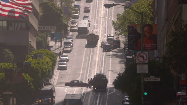 san francisco hilly street - placard stock videos & royalty-free footage