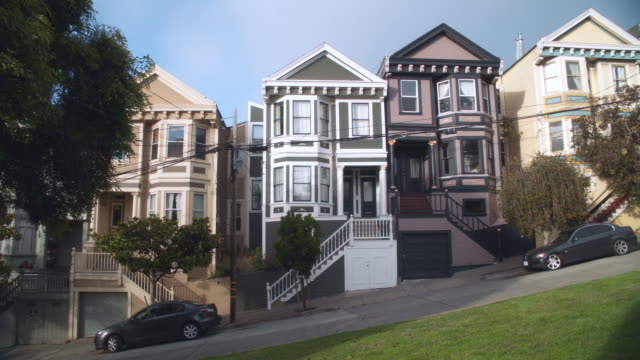 san francisco row houses - steep stock videos & royalty-free footage