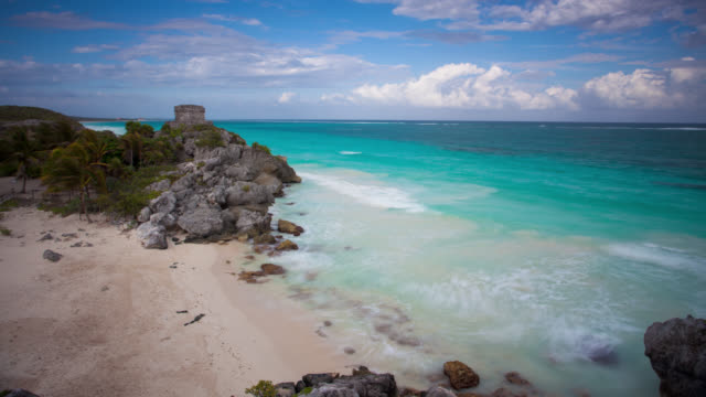 time lapse: tulum - mayan stock videos & royalty-free footage