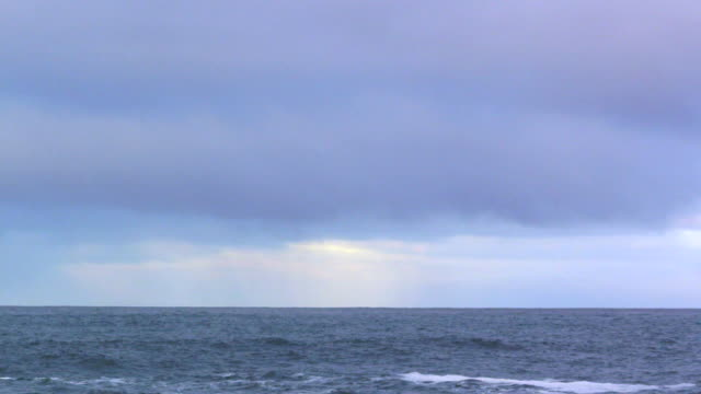 ocean and cloudy sky, plate - overcast stock videos & royalty-free footage
