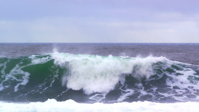 ocean waves crash toward camera - power in nature stock videos & royalty-free footage