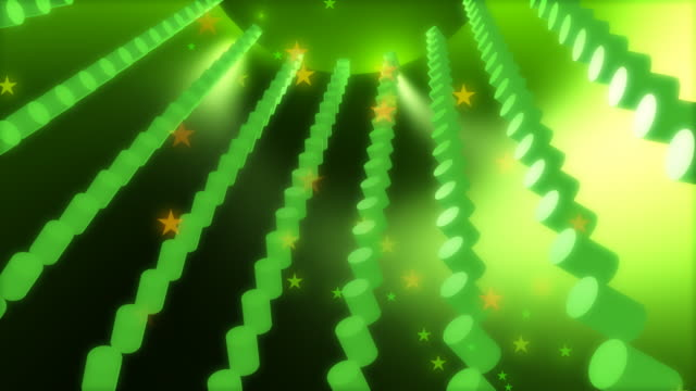hd green tubes #1 - 3d animation stock videos & royalty-free footage
