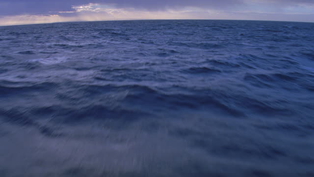 vídeos de stock, filmes e b-roll de early evening aerial of hawaiian coastline (oahu) & ocean - inclinação para cima